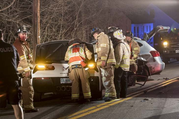 New Boston Man, Two Car Accidents In One Night