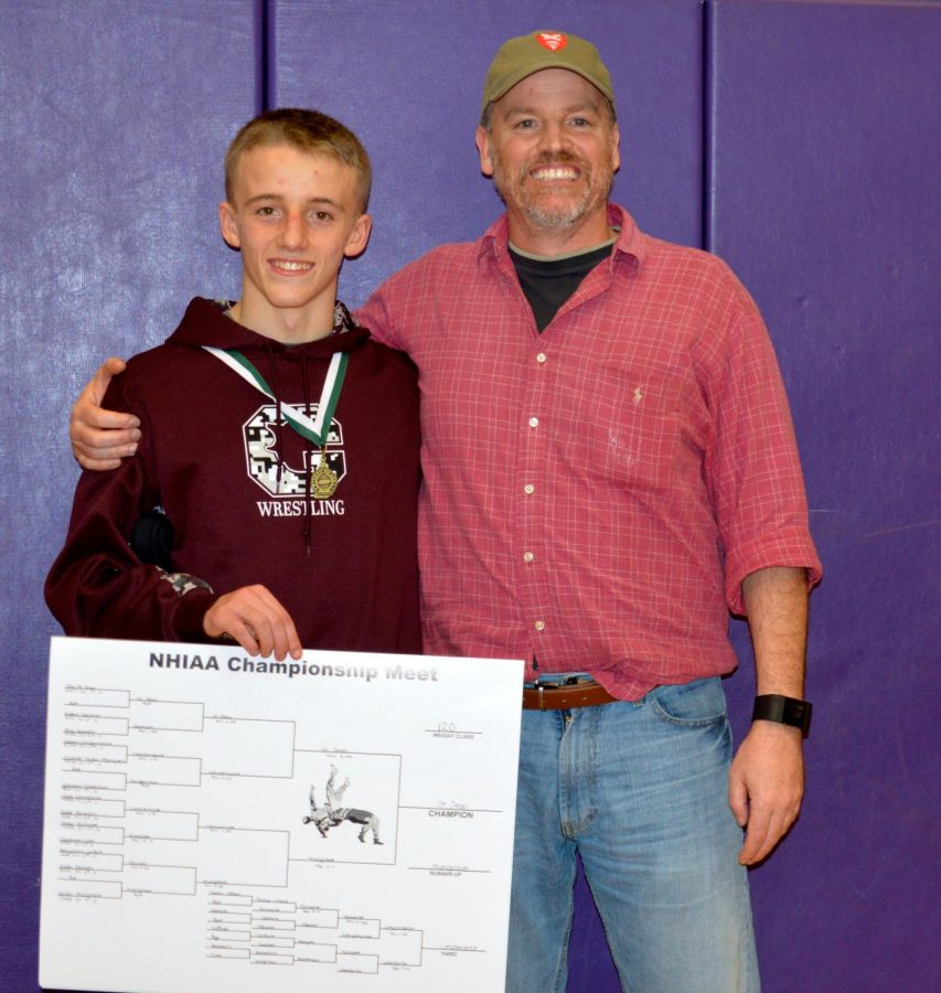 Dana+Dennis+alongside+his+nephew+Jac+after+his+All-State+wrestling+tournament.