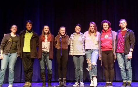 (L to R) Miah Pinard, Andrew Smerekanicz, Kaelyn Gervais, Catie Verostick, Allison Buckless, Kate Duval, Mary Catherine Gill, Chris Piekarski