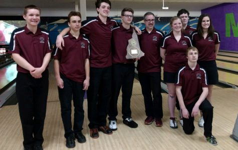The bowling team after winning the championship.
