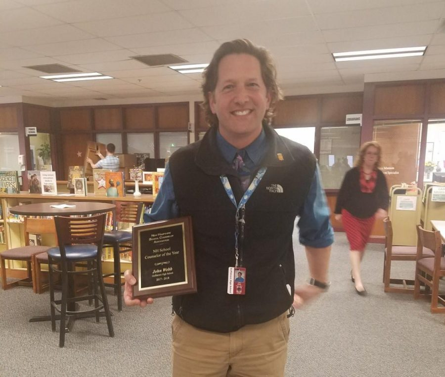 Webb Recognized as NH Counselor Of the Year
