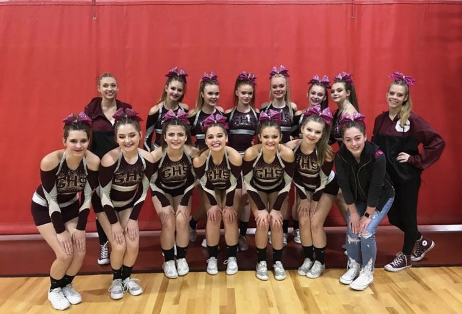 Varsity Cheer at Competition