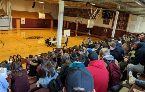 Students gathered for optional assembly.