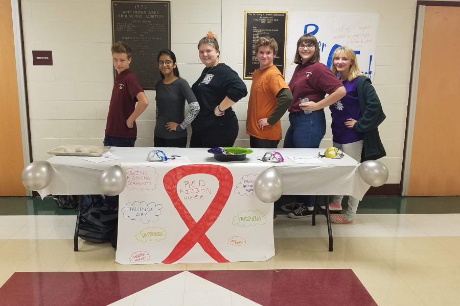 The team behind Red Ribbon Week at GHS