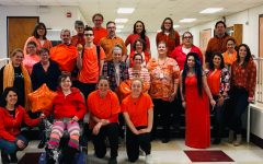 Students and staff show their support for the 2019 Respect Week by wearing orange.