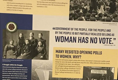 """Rightfully Hers"" a pop up exhibition hosted by Rho Kappa showcasing the ratification of the 19th Amendment"